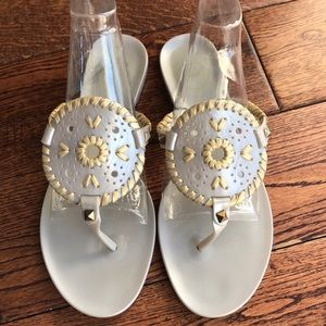 Jack Rogers Sandals Gray and Champagne Sz 8